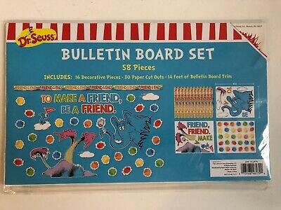 1 Dr. Seuss Bulletin Board set Make a friend classroom decor teacher](Classroom Bulletin Board Sets)