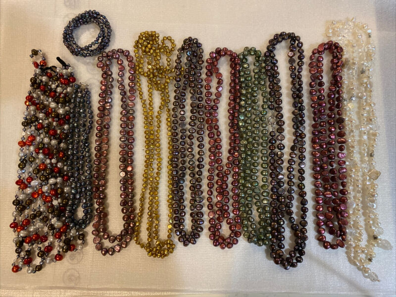 Lots Of Genuine Pearls Necklaces Bracelet And More