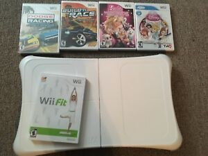 Wii Fit Board and Games.