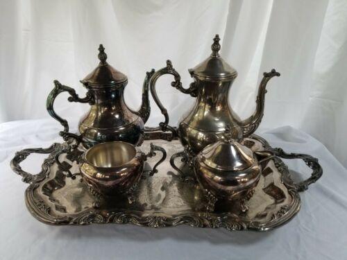 FB Rogers Silverplate 5-Piece Coffee Tea Hostess Set