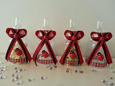 12 Fillable Ladybug Bottles for Favors Prizes or Games Baby Shower - Prizes For Baby Shower Games