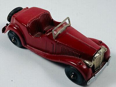 """Vintage 1950's Die Cast Hubley 432 Kiddie 6"""" Red Roadster Coupe 432"""