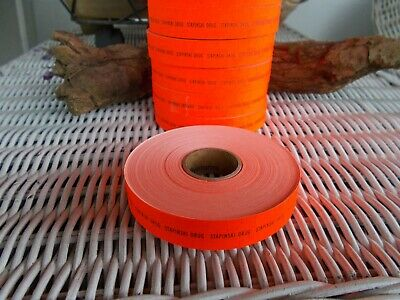 Yard Sale Thrift Store Price Labels Stickers Fluorescent Orange Roll Of 1000