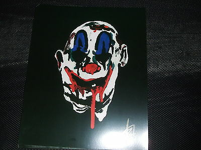 rob zombie 31 scary clown hand painting 8x10 print captain spauding rejects