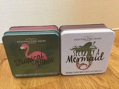 Scottish Fine Soap Company Set of 2 Soap New  3.5 oz