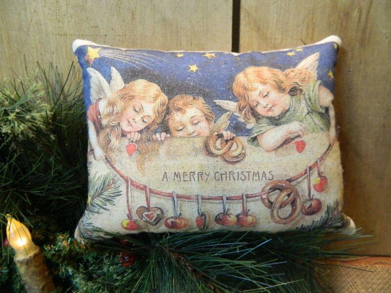 PRIMITIVE~ FOLK ART~ Christmas Pillow
