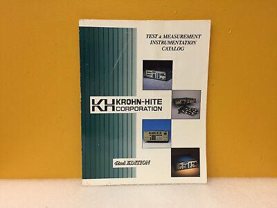 Krohn Hite 42nd Edition Test Measurment Instrumentation Catalog