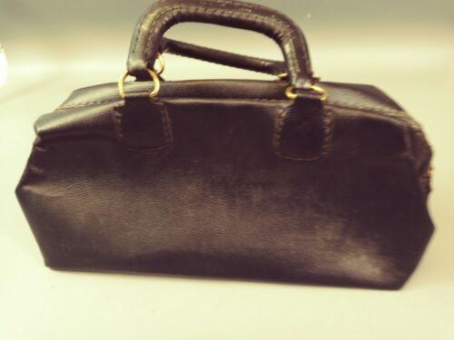L👀K Vintage Doctors Medical Hospital Black Bag Zip Closured