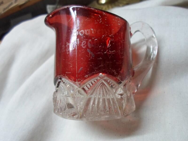 Napoleon Oh Ohio-eapg souvenir ruby flash pitcher
