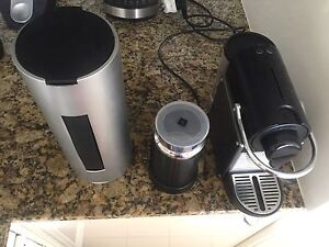 Nespresso machine with milk frother and pod collector Cremorne North Sydney Area Preview