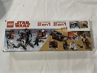 Lego Starwars Superpack 2 en 1  Item No 66597 205 Pieces UPC