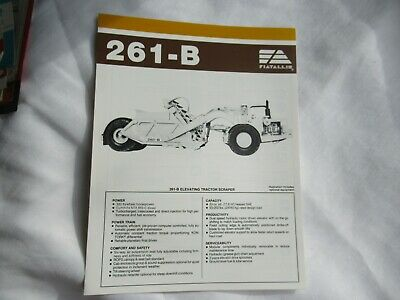 Fiatallis Fiat-allis Chalmers 261-b Elevating Tractor Scraper Brochure