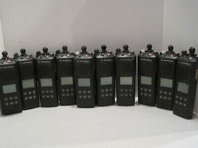 Lot Of 10 Motorola Xts 3000 16ch H09ucf9pw7an 800mhz Two Way Radio