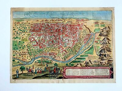 Braun & Hogenberg Map of Cairo ~ Babylon