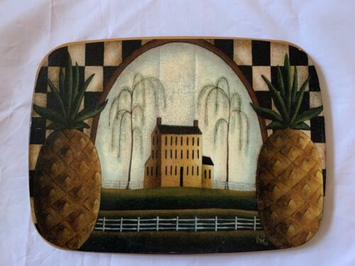 "Hand Painted Farmhouse Decor Wood Lid For Longaberger Basket 10""x7.5"" Accessory"