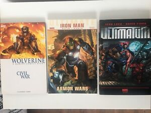 Marvel comics graphic novels Wolverine Ironman others