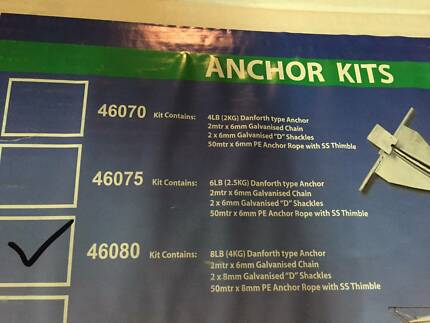 Brand New Anchor Kit - galvanised sand anchor, chain etc New Farm Brisbane North East Preview