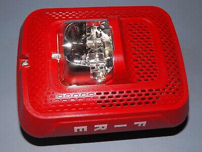 System Sensor Wall Speaker Strobe Indoor Fire Alarm In Red