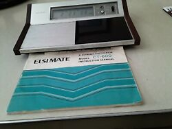 1970's Sharp Elsi Mate Calculator/Stop Watch/Desk Clock Model CT-600
