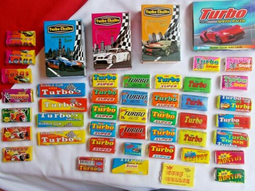 Full Gum Vintage Chewing Bubble TURBO Chalk, 2003, Power, 2007, Sport