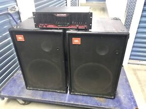 """CROWN - JBL PA System, CE2000 amp and 15"""" JBL Speakers"""
