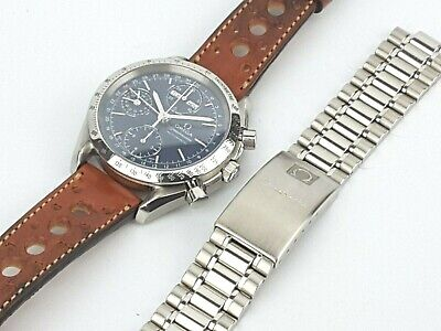 An Outstanding Omega Speedmaster Triple Date Automatic Watch. Blue Face. 3521.80