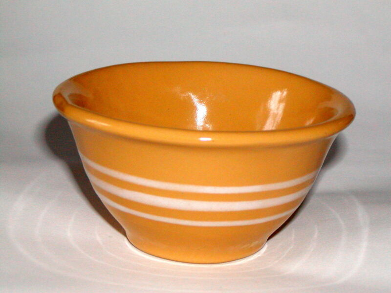 Vintage Rowe Pottery Miniature Yellow Ware Bowl Yellow ware