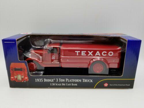 Rare ERTL Collectibles TEXACO 1935 Dodge 3 Ton Platform Truck Die Cast Bank 1:38