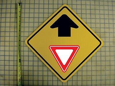 YIELD AHEAD YELLOW ALUMINUM SIGN Ahead Yellow Sign