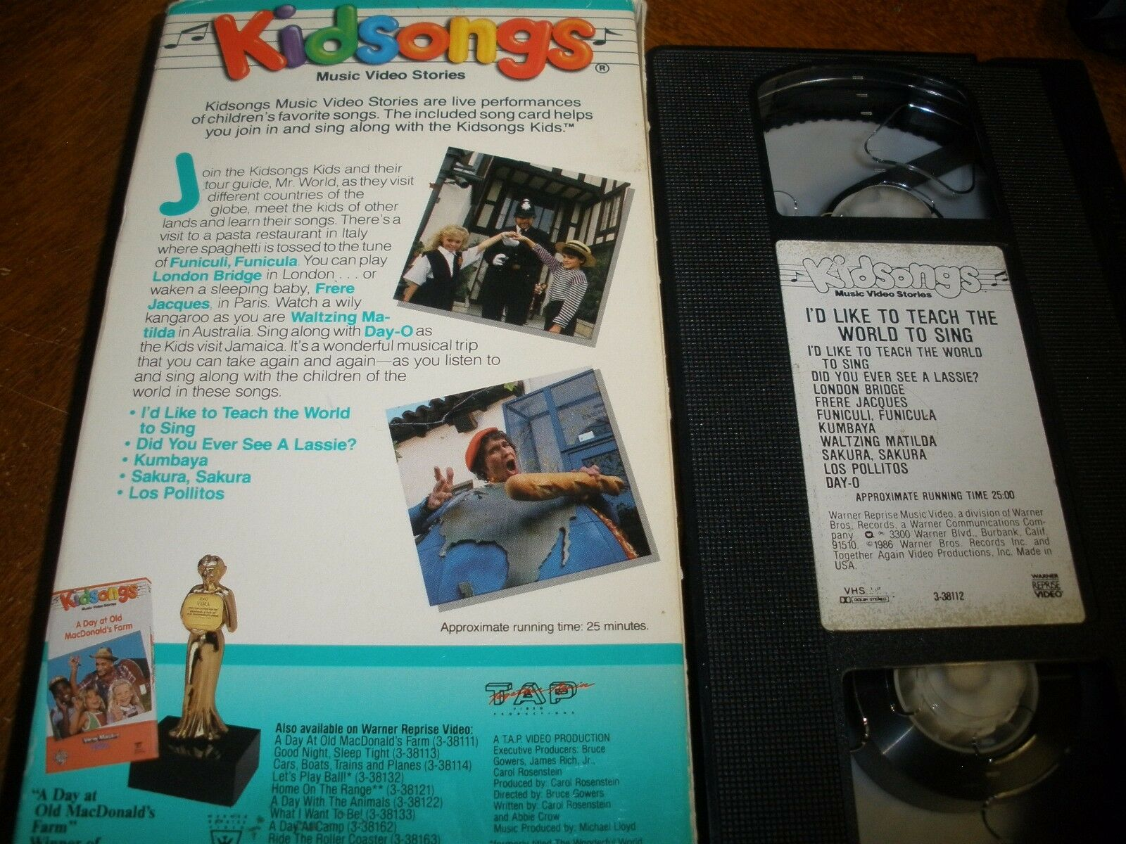 KIDSONGS - ID Like to Teach the World to Sing (VHS, 1995) - $18.99 ...