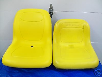 YELLOW REPLACEMENT FLIP UP SEAT FOR JOHN DEERE F710, F725, F735 FRONT MOWERS #DQ John Deere Replacement Seat