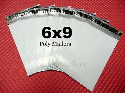 60 Small Poly Bag Mailers 6x9 2.5 Mil Quality Shipping Envelope Bags