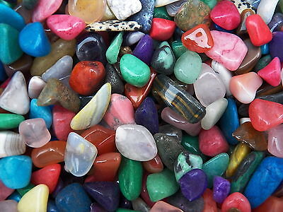3000 Carat Lots of Size #3 Tumbled Polished Gemstones + A FREE Faceted Gemstone