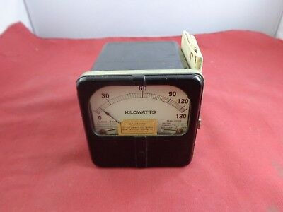 Vintage 1950s Roller-smith Voltage Meter With Electrical Mapping