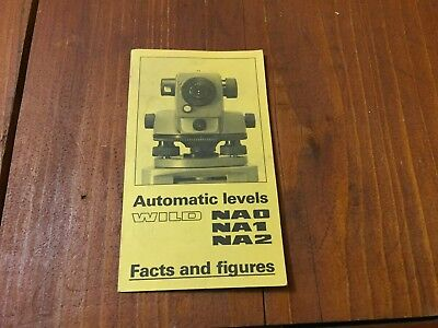 Wild Heerbrugg Na0 Na1 Na2 Automatic Levels Brochure Surveyor
