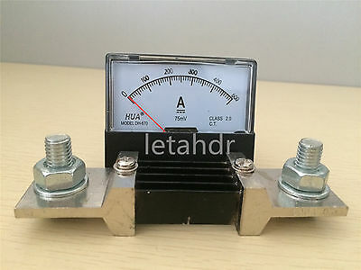 Analog Amp Panel Meter Current Ammeter From Dc0-5a To Dc 0-500a Without Shunt
