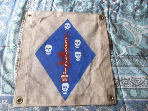 MODERN  USMC 1 ST MARINE DIVISION AFGHANISTAN SKULL FLAG