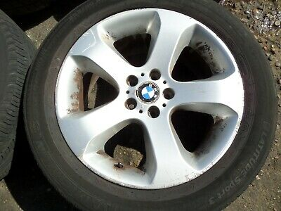 "BMW X5 E53 ALLOY WHEEL WITH TYRE 2004 MODEL 19""  FREE P&P"