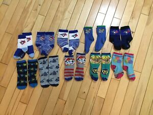 10 pairs of socks for around a 3 year old