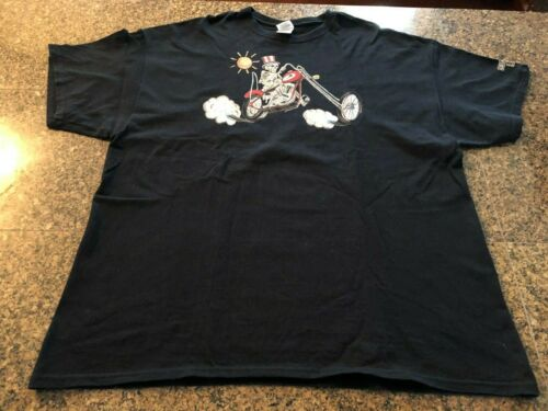 Grateful Dead  Wes Lang Motorcycle T Shirt (2XL) - Black