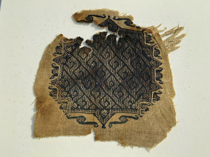 Large Coptic Textile From Egypt 300-400 AD