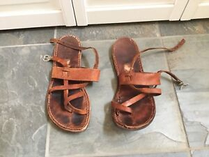 Greek leather sandals, approx size 9.5