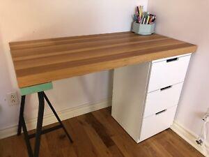 Bureau Ikea avec rangement