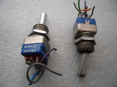 2x Aircraft Apem Apr-jo 12149k Professional Toggle Switch On-off-on Double Pole