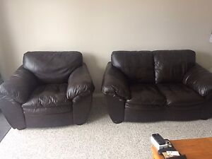 Brown Couch and Chair set