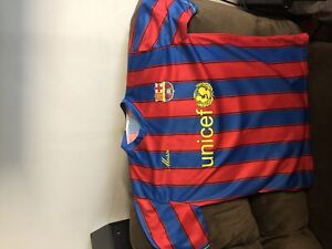 Messi number 10 unicef jersey.