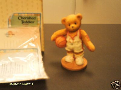 Cherished Teddies _ LARRY - basketball player - You're my shooting star  (Basketball Teddies)