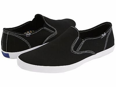 NEW $45 Keds Supporter Men's Black Original Canvas Slip-On Sneaker Shoes Size 10