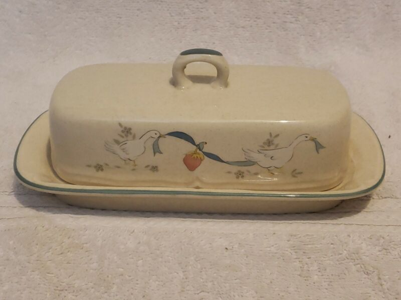 Vintage MARMALADE BY INTERNATIONAL Geese Duck  BUTTER DISH  Made in Japan