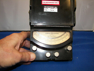 Ammeter 3 scale .1 ,1 , 10 AMP scale Mirrored jeweled movement